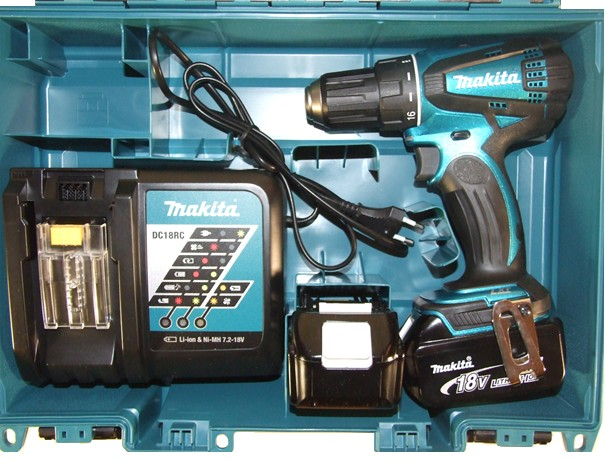 makita ddf456rfe skrudrill 18v drillsett 2 x 4ah prohandel as. Black Bedroom Furniture Sets. Home Design Ideas