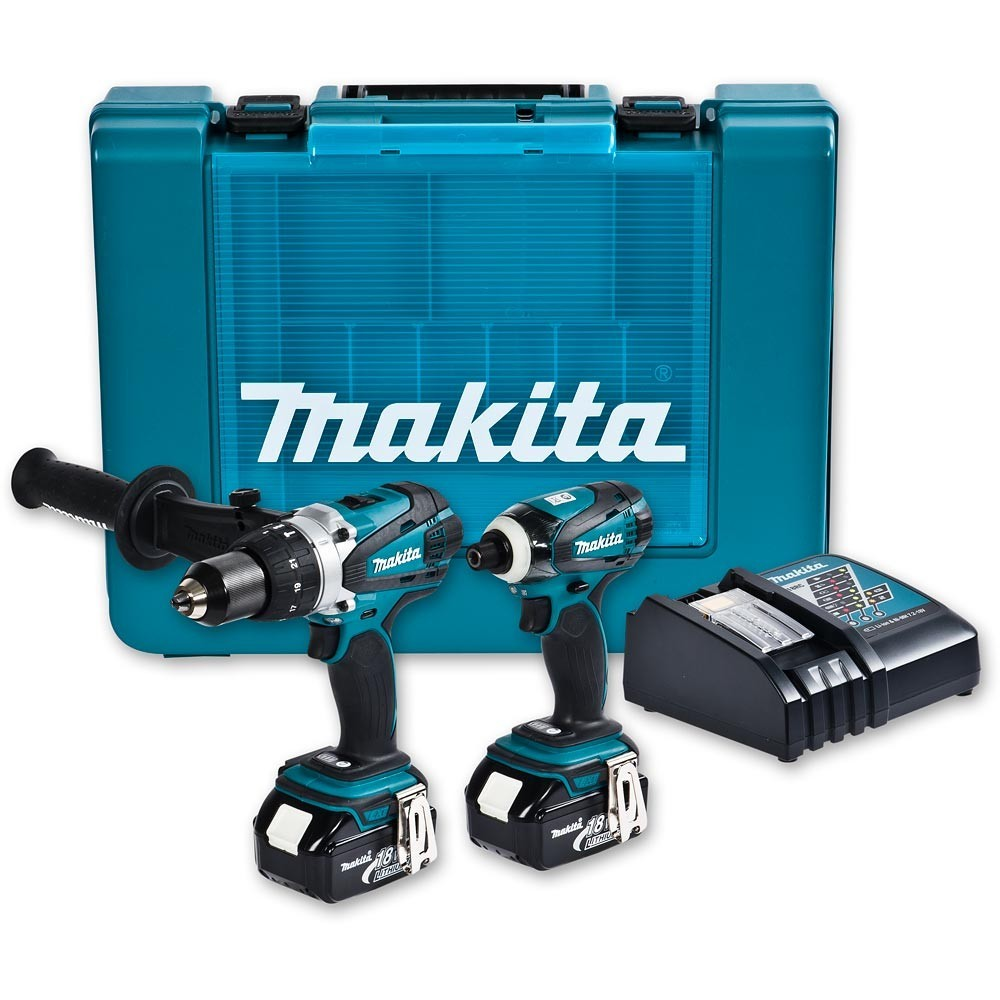 makita dlx2005m 18v duel drillsett 2 x 4ah batt prohandel as. Black Bedroom Furniture Sets. Home Design Ideas