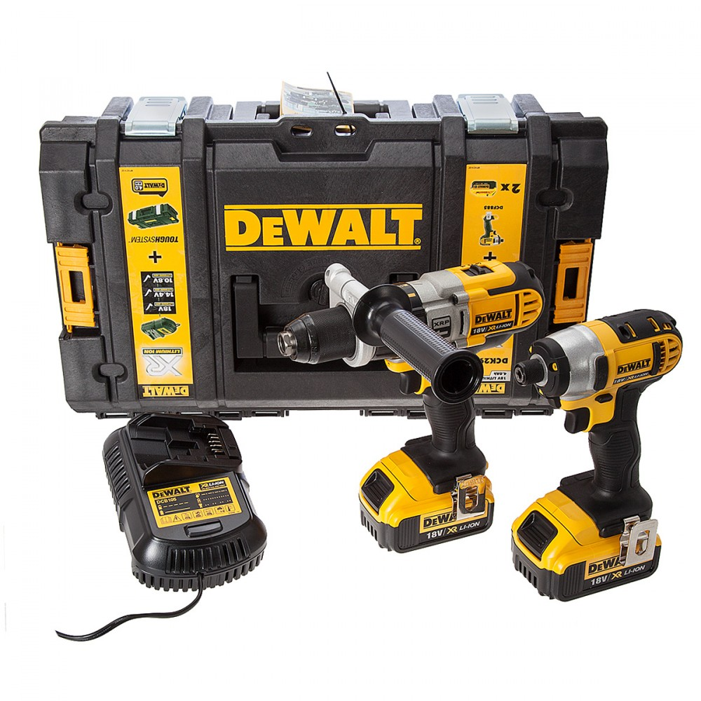 dewalt dck290m2 18v xr li ion combi drill og impact driver twinpack 2x4ah batt prohandel as. Black Bedroom Furniture Sets. Home Design Ideas