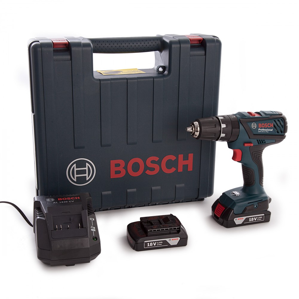 bosch gsb 18 2 li plus professional combi drillsett 2 x 1 5 ah batterier prohandel as. Black Bedroom Furniture Sets. Home Design Ideas