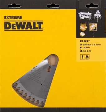 DeWalt Extreme DT4217 250mm 60-tenner sagblad