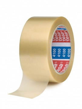 TESA 4100 - 66m x 50mm Transparent PCV tape (svært kraftig)