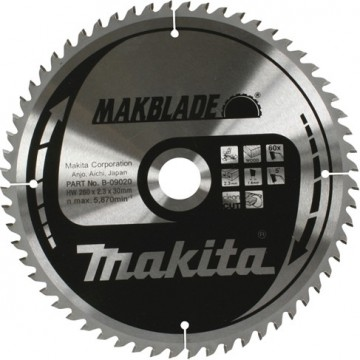 Makita B-09020 260x30mm 60-tenner sagblad for trevirke