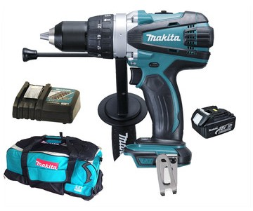 Makita DHP458REF 18V drillsett m/bag