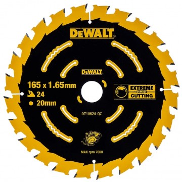 Dewalt DT10624 Extreme 165mm x 20mm x 24T sagblad for trevirke