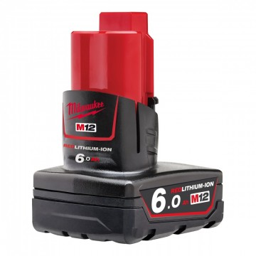 NYTT! Milwaukee M12B6 M12 Batteri 6.0Ah