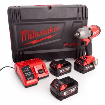Milwaukee M18FMTIWF12-503X M18 1/2-tommers medium moment muttertrekker (3 x 5,0 Ah batterier)