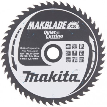 Makita B-09824 260x30mm 48-tenner sagblad for særdeles pene kutt
