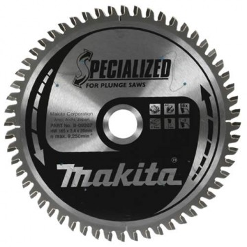 Makita B-09298 165mm 48-tenner trebladsagblad for SP6000