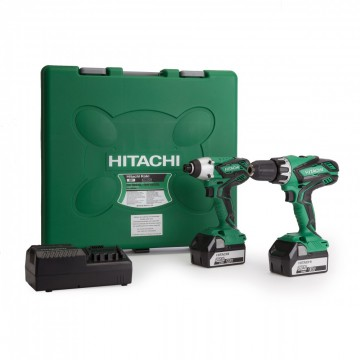 Hitachi KC18DGL 18V Combi drill + slagtrekker twin Pack (2 x 5ah batterier)
