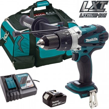 Makita DHP458 18V Combi drill + 1 x 4.0Ah BL1840B, DC18RC, LXT400 Bag